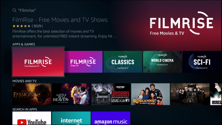 FilmRise – Free Movies and Classic TV show app